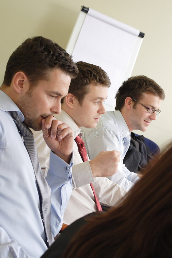Lange GruppenArbeitsstunden Stockfoto