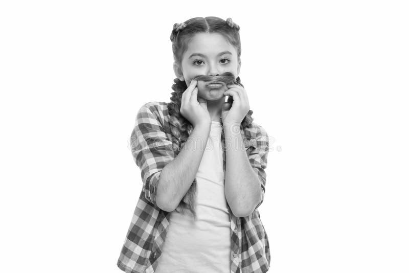 Lange het meisje vlecht witte achtergrond Kanekalon jumbovlechten Houd kapsel voor gezonder haar wordt gevlecht dat Jong geitjesp stock fotografie