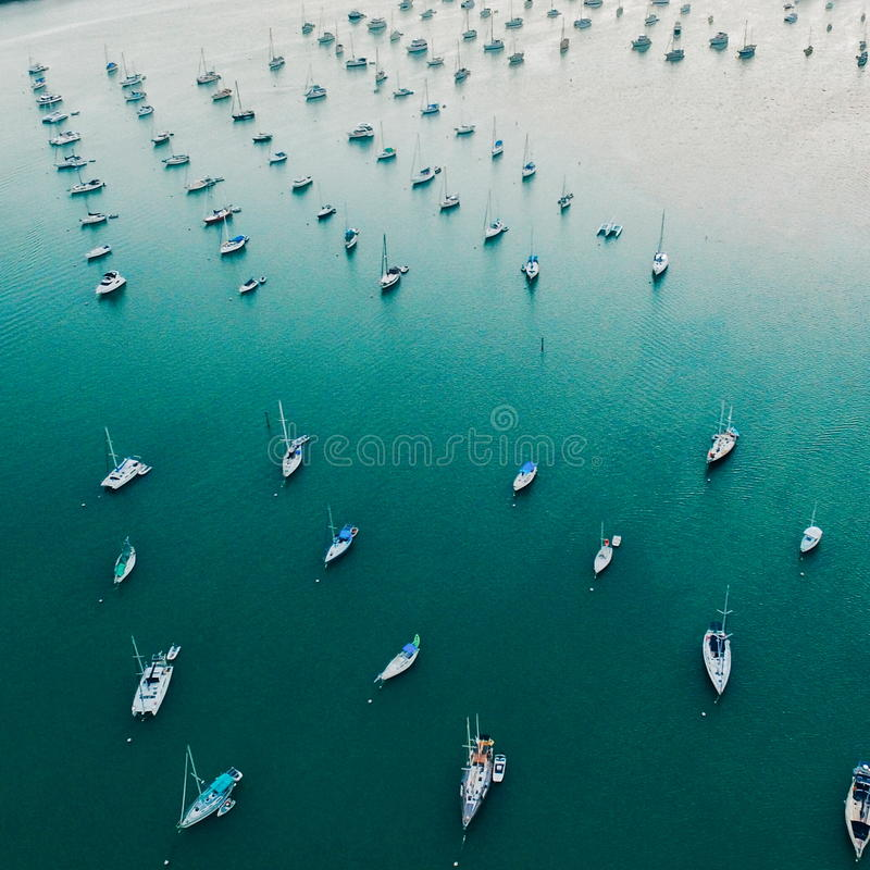Lange jachthaven stock fotografie
