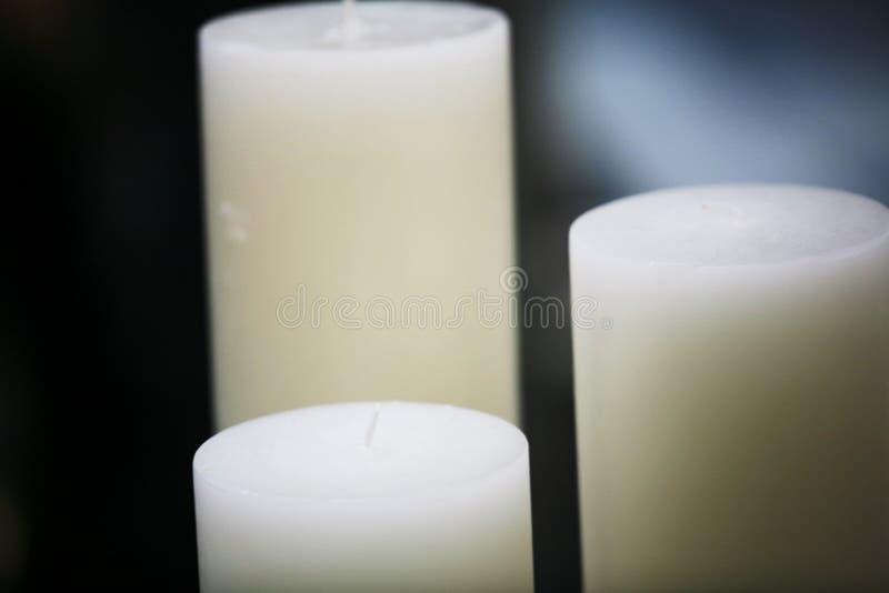 Lange Kerzen stockfoto