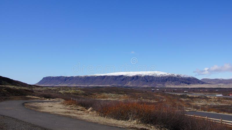 Lange lijstberg IJsland royalty-vrije stock foto's