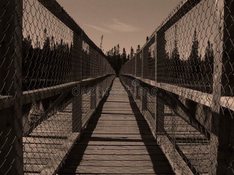 Download Lange Narror Brücke stockfoto. Bild von zaun, lang, elemente - 28126