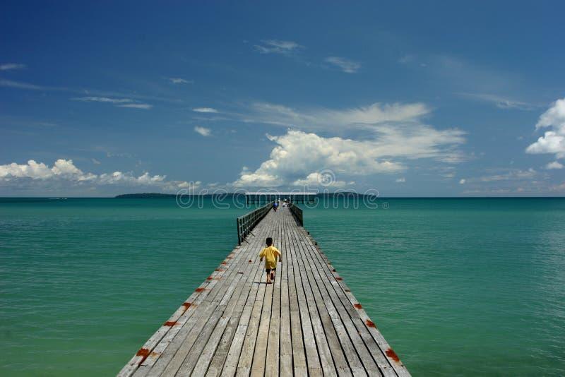 Lange Pier stock afbeelding