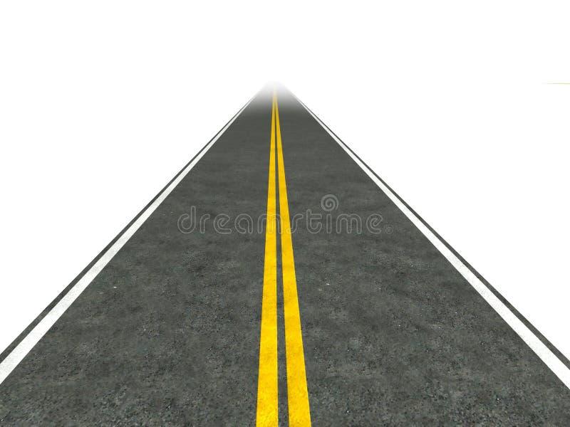 Lange, rechte wegillustratie. royalty-vrije illustratie