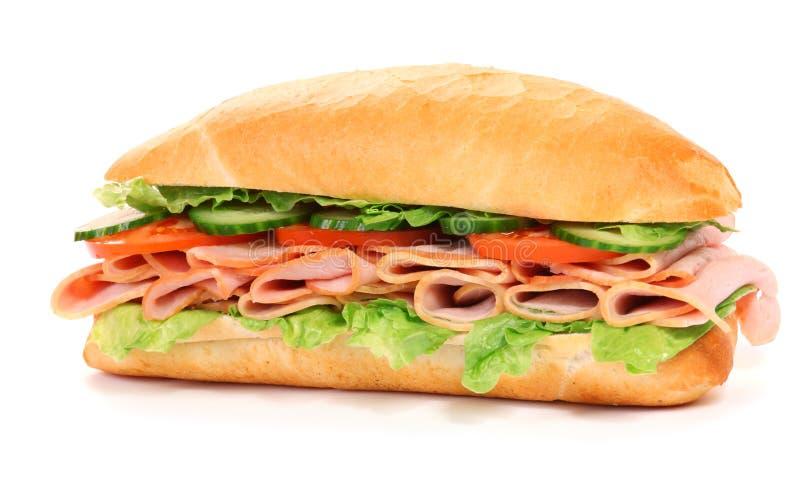 Lange sandwich royalty-vrije stock afbeeldingen