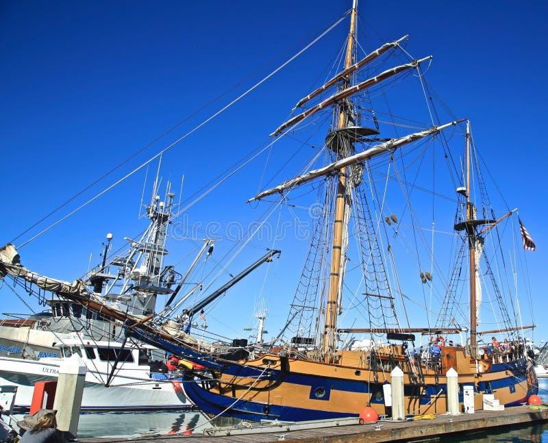Lange schepen stock foto's
