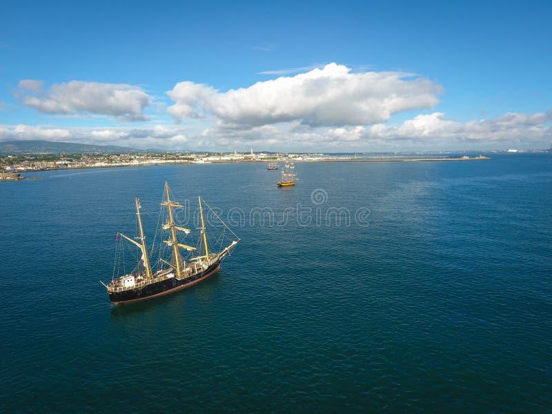 Lange schepen Dublin Riverfest 2017 ierland royalty-vrije stock fotografie