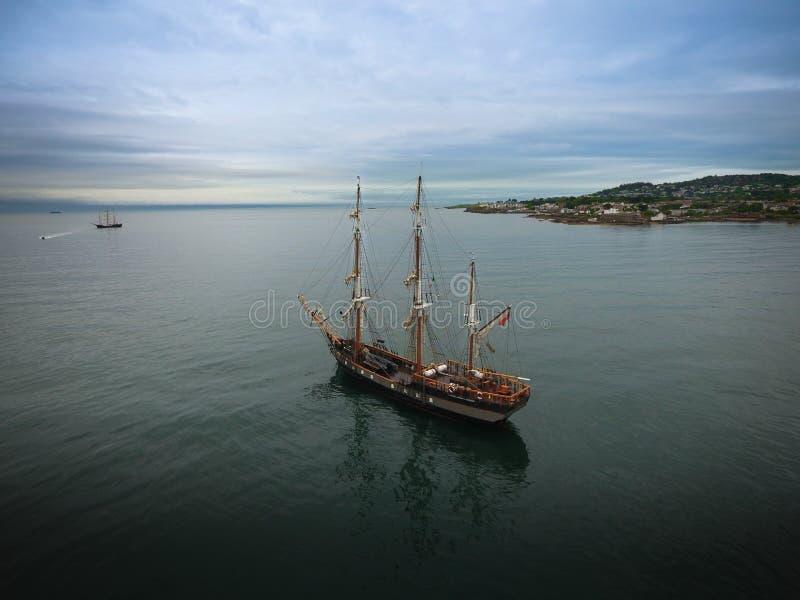 Lange schepen Dublin Riverfest 2017 ierland stock foto's