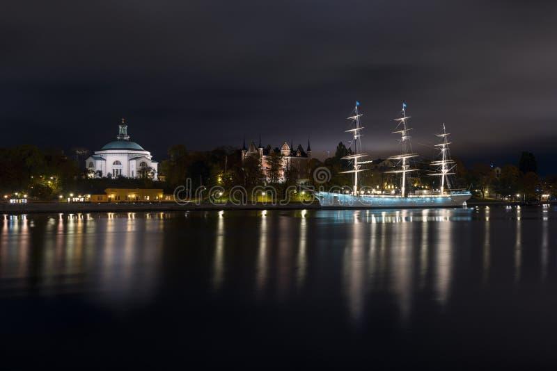 Lange schipaf Chapman in Stockholm, Zweden stock foto's