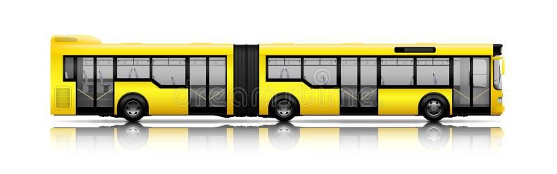 Lange stadsbus royalty-vrije illustratie
