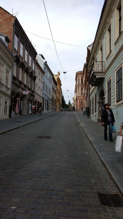 Lange Straße stockbild