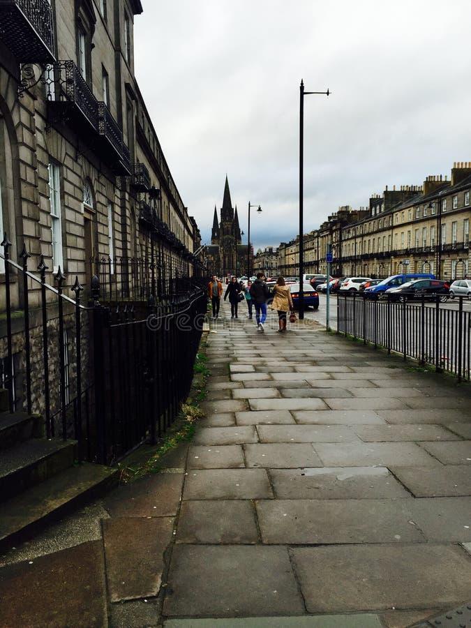 Lange Straßen stockbild