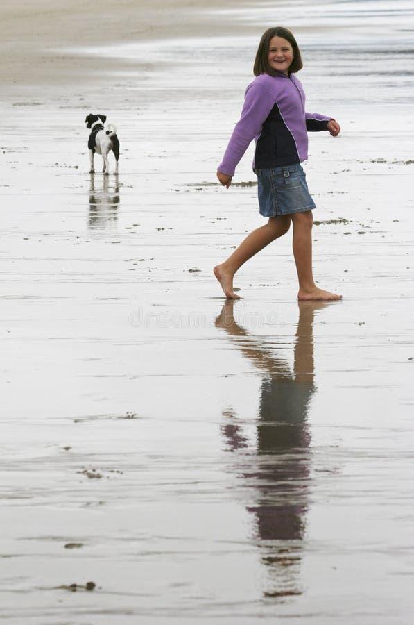 Lange strandgolf stock afbeelding