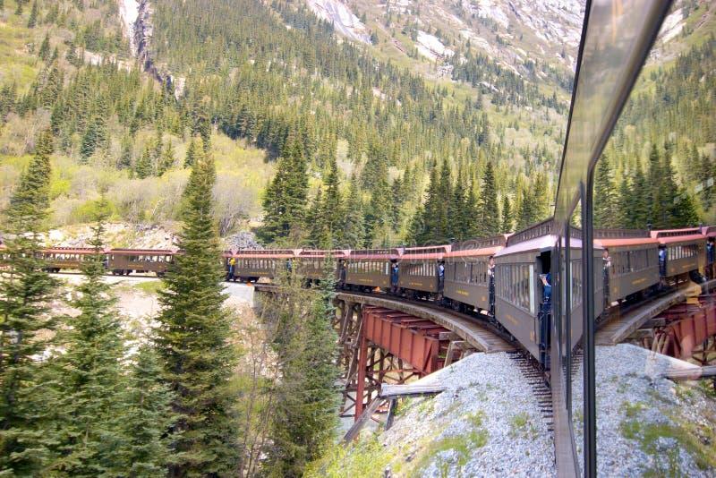 Lange Trein stock afbeeldingen