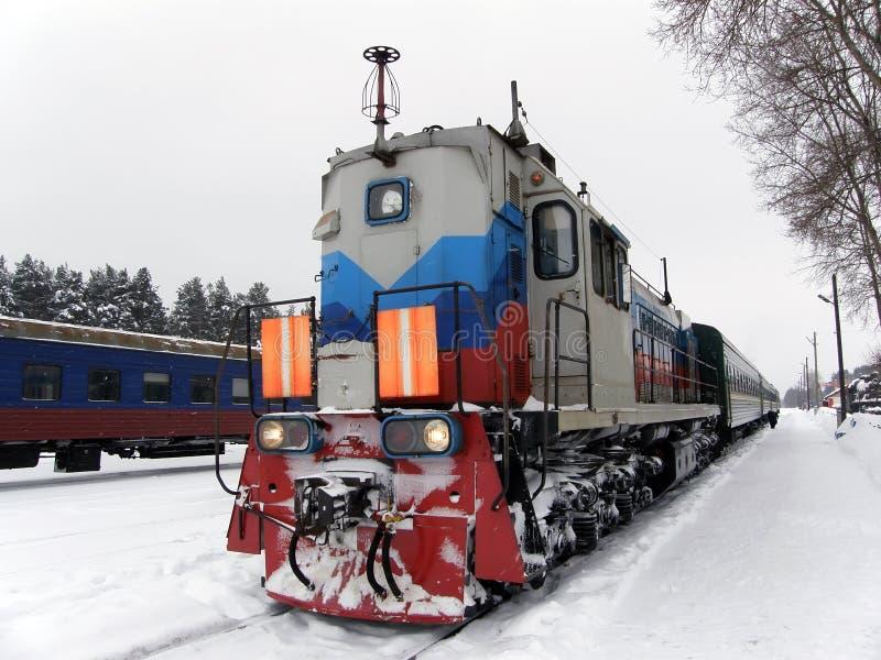 Lange trein stock fotografie
