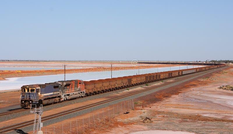 Lange trein royalty-vrije stock afbeelding