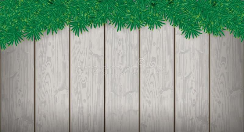 Lange Weihnachtskarten-hölzerne Latten-Zweige lizenzfreie abbildung