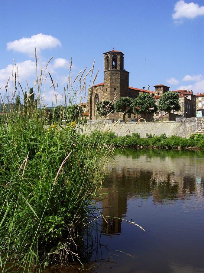 Langeac, L'Allier stock fotografie