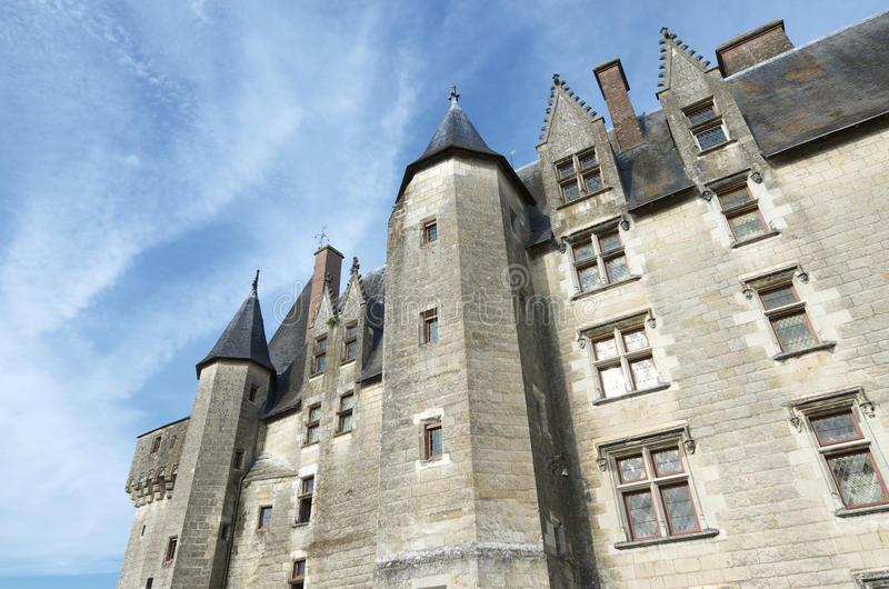 Langeais. Castle, Loire Valley, France. Built in the 15th century on the ruins of an ancient fortress, is an example of architecture from the late medieval royalty free stock photo