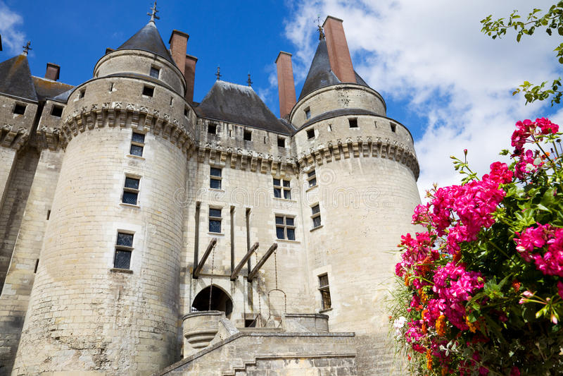 Langeais Chateau, Frankreich stockfoto