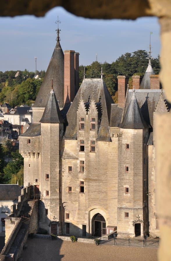 Langeais Schloss stockbild