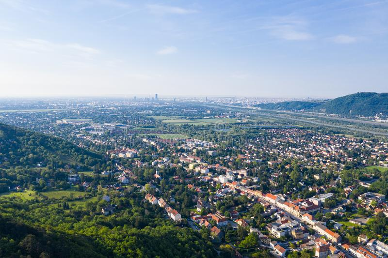 Langenzersdorf in Weinviertel, Nieder?sterreich lizenzfreies stockfoto