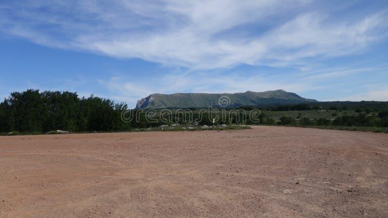Langer Berg in Krim stockfoto