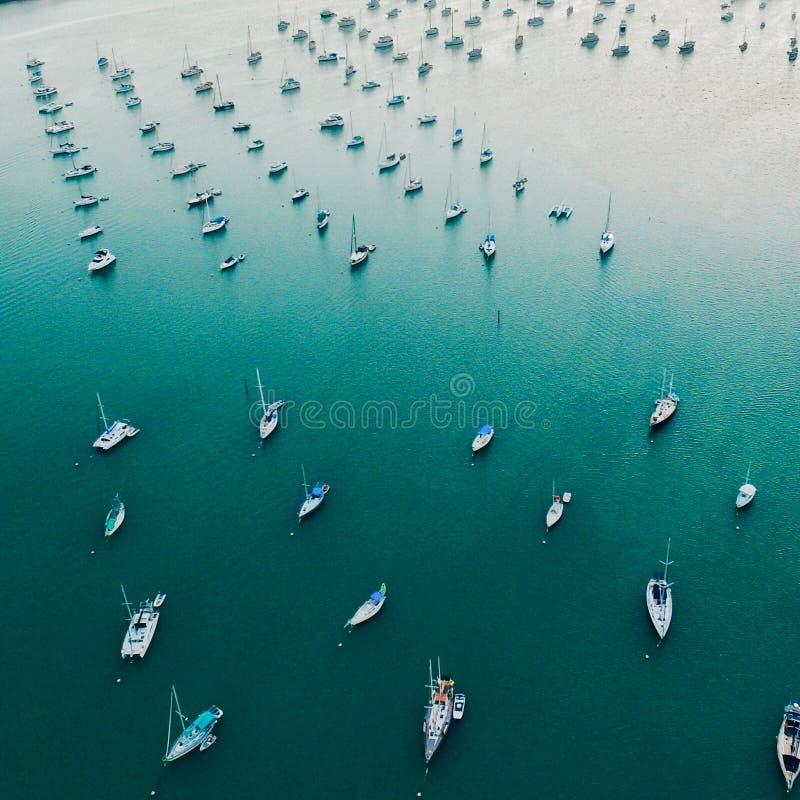 Langer Jachthafen stockfotografie