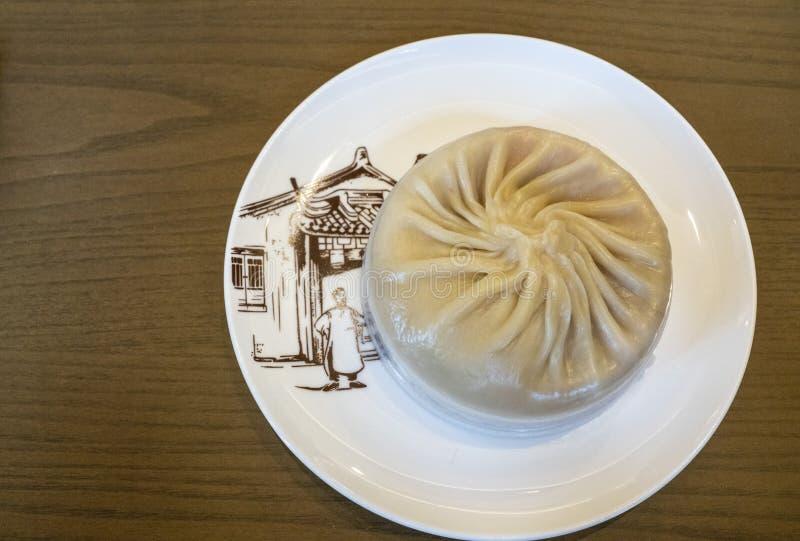 Langes bao köstliche Suppe Xiao am Nanxiang-Brötchen-Geschäft stockfotos