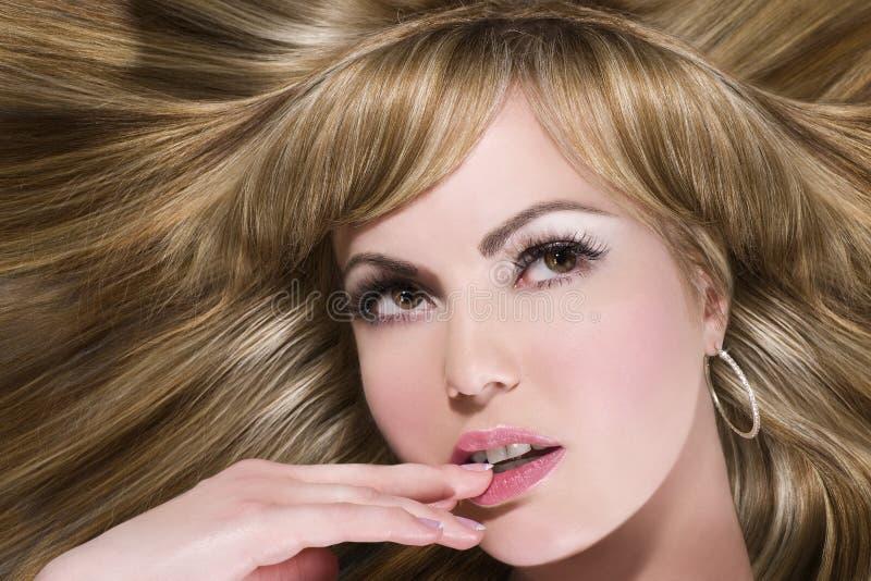 Langes Blondes Haar Stockfotos
