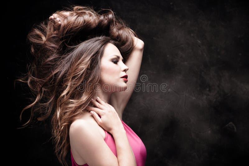 Langes gesundes Haar stockbild