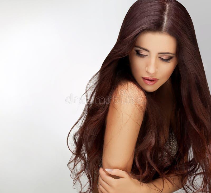 Langes Haar. Gute retouching Qualität lizenzfreie stockbilder