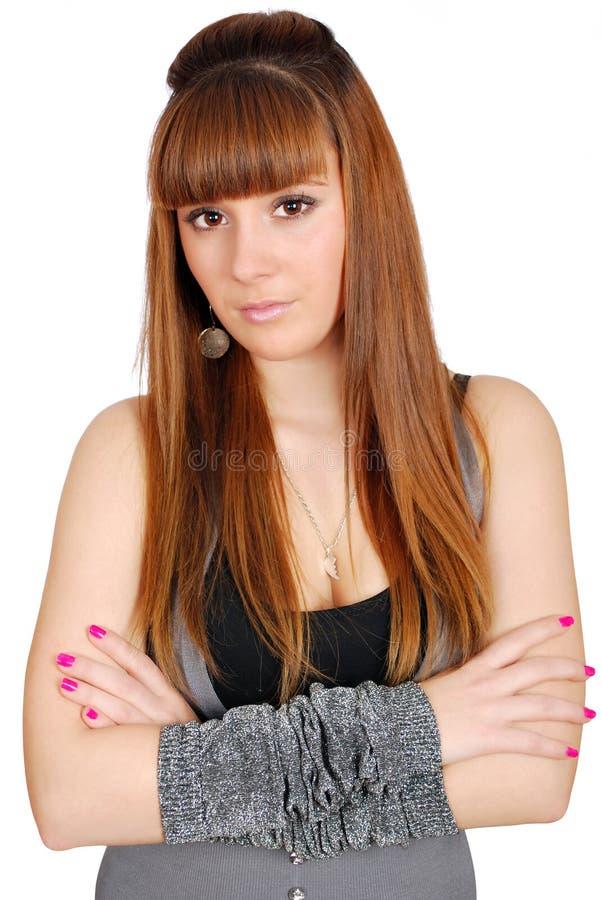 Langes Haar-Jugendlicheportrait stockbilder