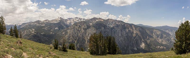 Langes Schlucht-Panorama, John Muir Wilderness, Kalifornien stockfoto