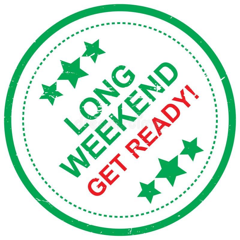 Langes Wochenende werden fertig lizenzfreie abbildung