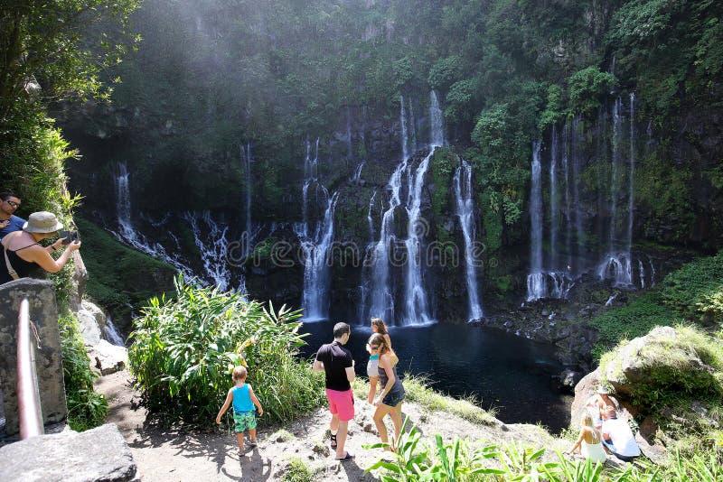 Langevin понижается, Ла Остров Реюньон, индеец Oean стоковое фото rf