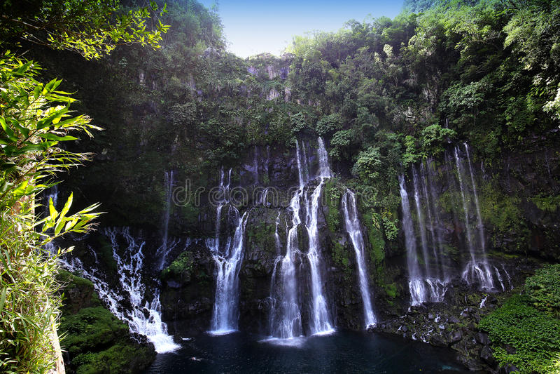 Langevin cai, La Reunion Island, indiano Oean imagens de stock