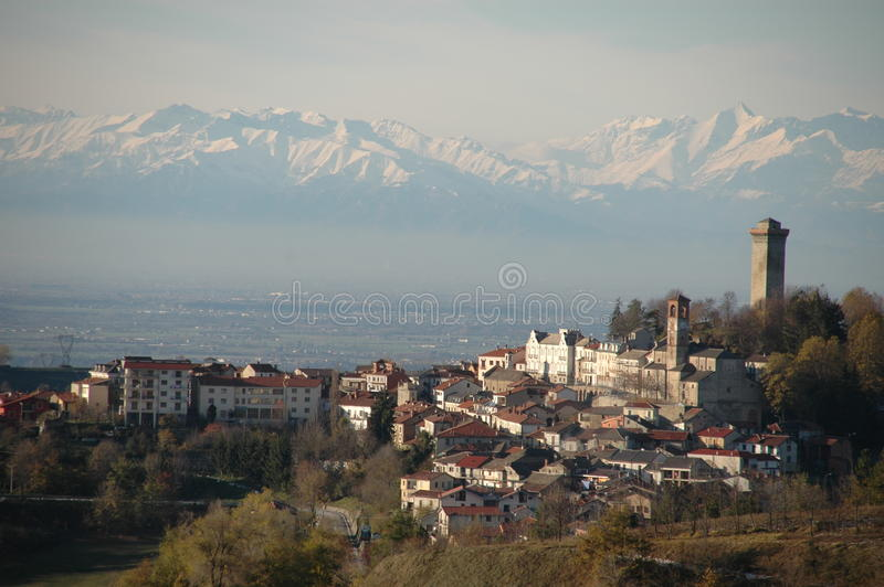 Langhe landscape, Murazzano royalty free stock image