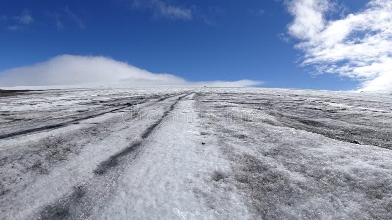 Langjökull den andra - största glaciären i Island fotografering för bildbyråer