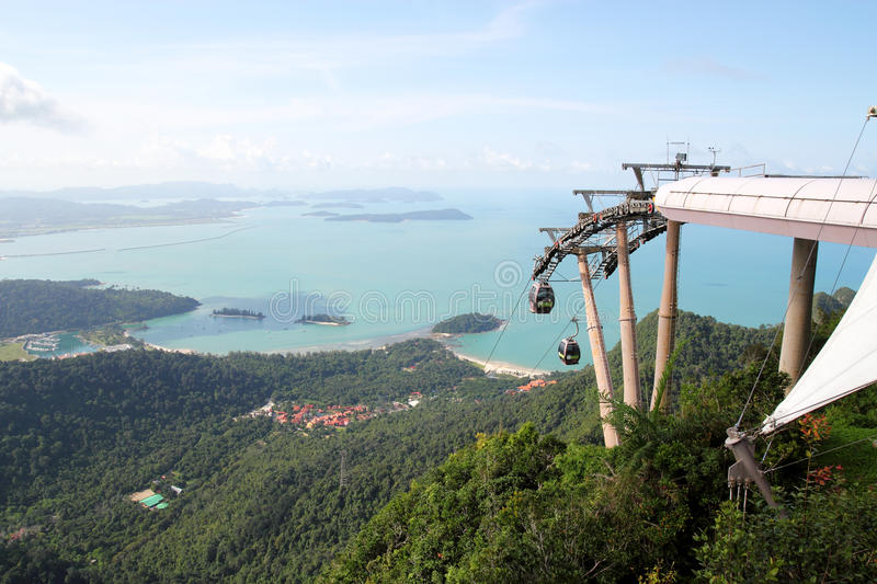 Download Langkawi Cable Car editorial stock image. Image of blue - 20816029
