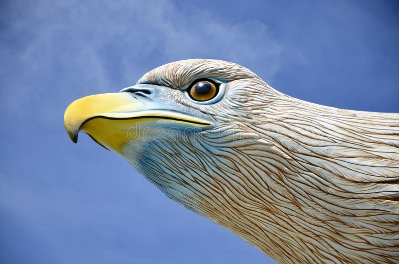 Langkawi Eagle Monument Head and Face Close-up Detail royalty free stock image