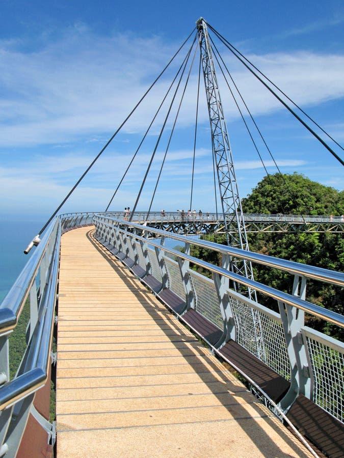 Langkawi island, Malaysia. Famous hanging bridge of Langkawi island, Malaysia stock photos
