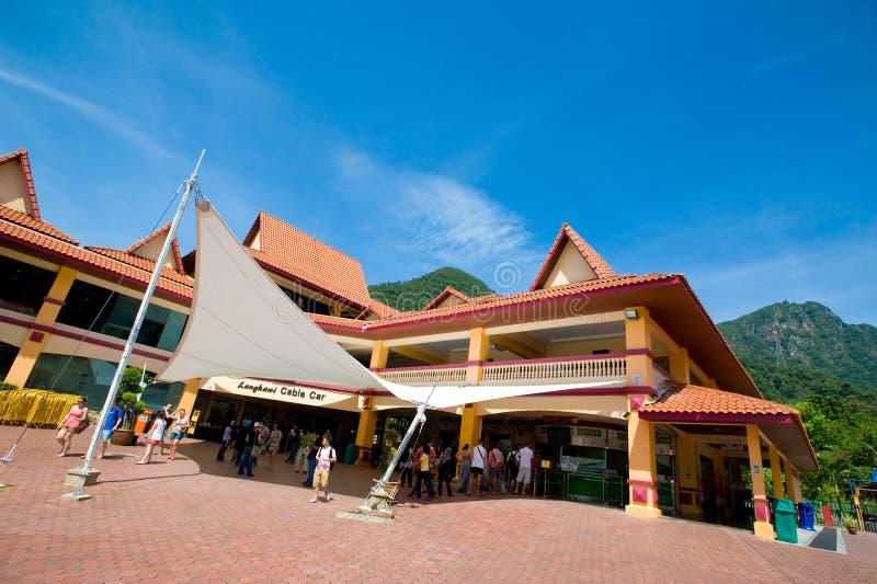 Langkawi-Seilbahnstation stockbild