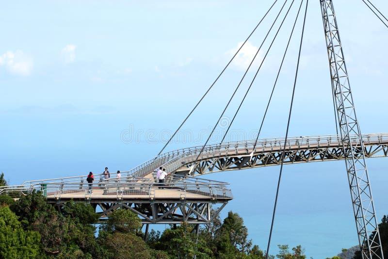 Langkawi Sky Bridge 02. The Langkawi Curved Suspension Sky Bridge at Langkawi Island, Malaysia stock images