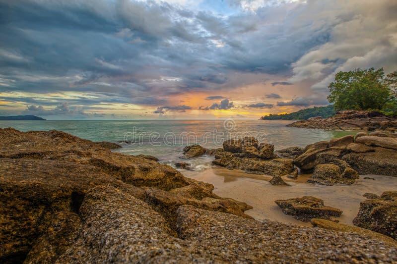 Langkawi solnedgång arkivfoto