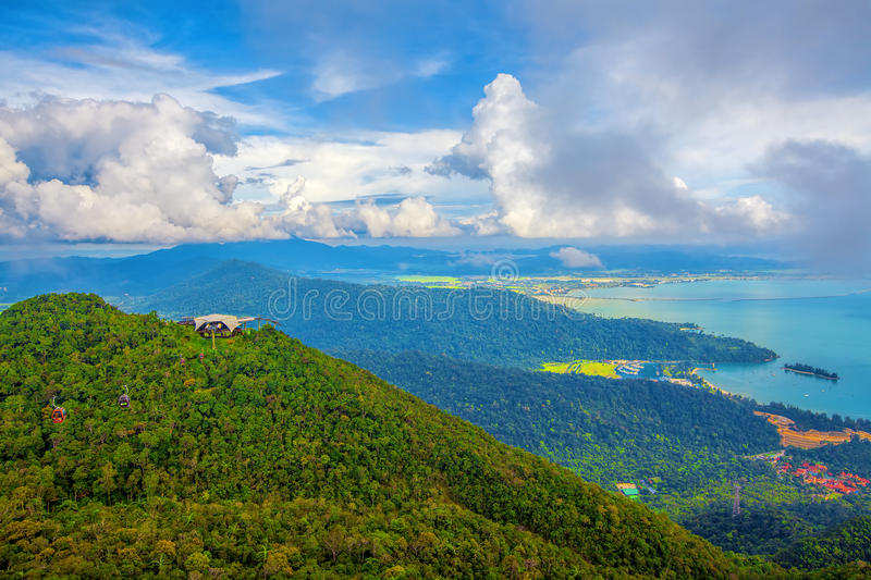 Langkawi viewpoint. The landscape of Langkawi seen from Cable Car viewpoint royalty free stock photo