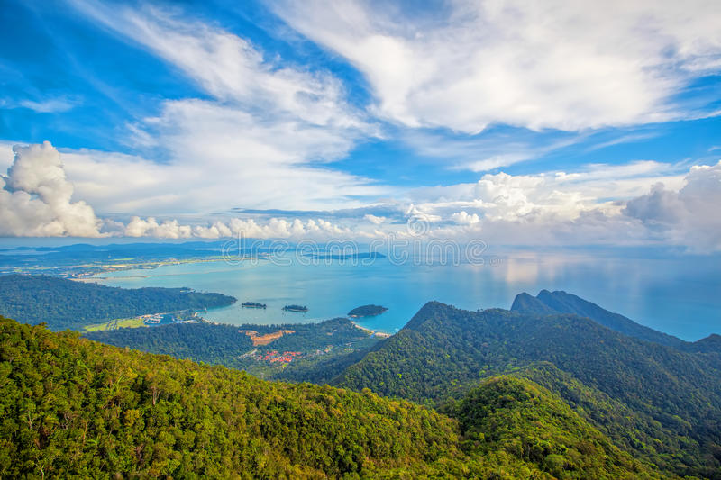 Langkawi viewpoint. The landscape of Langkawi seen from Cable Car viewpoint stock images