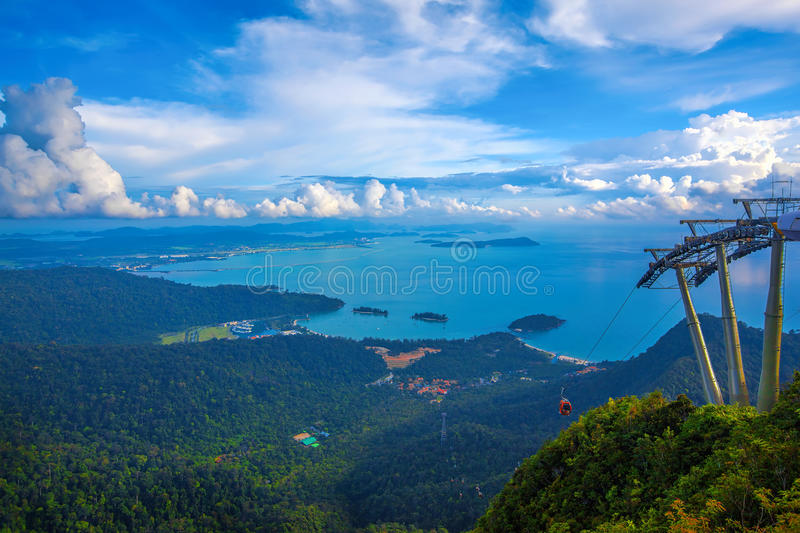 Langkawi viewpoint. The landscape of Langkawi seen from Cable Car viewpoint royalty free stock photos