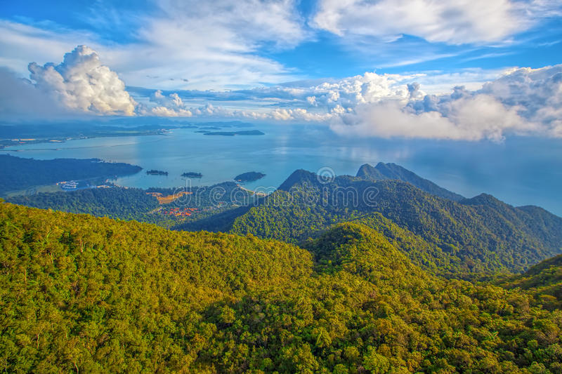 Langkawi viewpoint. The landscape of Langkawi seen from Cable Car viewpoint stock photography