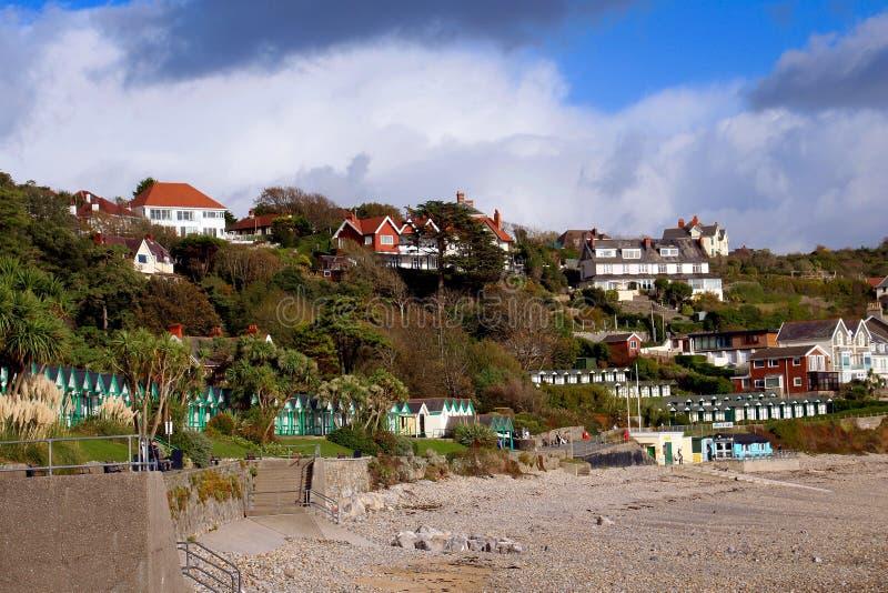 Langlandbaai, Gower, Swansea, Wales, het UK royalty-vrije stock afbeelding
